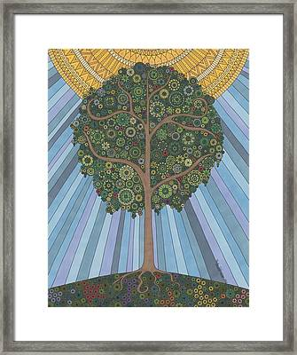 Summer Tree Framed Print by Pamela Schiermeyer