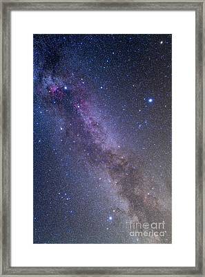 Summer Triangle Area Of The Northern Framed Print by Alan Dyer