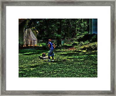Summer Tyme Spending Money Framed Print by Robert Rhoads
