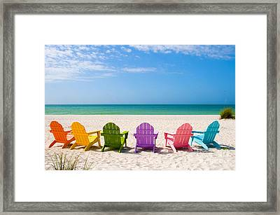 Summer Vacation Beach Framed Print by ELITE IMAGE photography By Chad McDermott