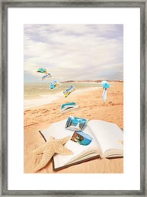 Summer Vacation Postcards Framed Print by Amanda Elwell