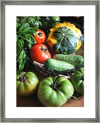 Framed Print featuring the photograph Summer Vegetable Garden  by Deb Martin-Webster