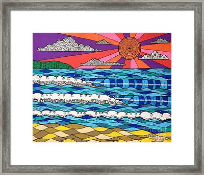 Framed Print featuring the digital art Summer Vibes by Susan Claire