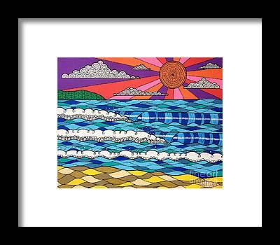 Multi-colored Framed Prints
