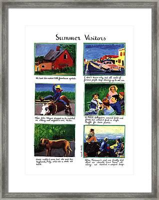 Summer Visitors Framed Print by Huguette Marte