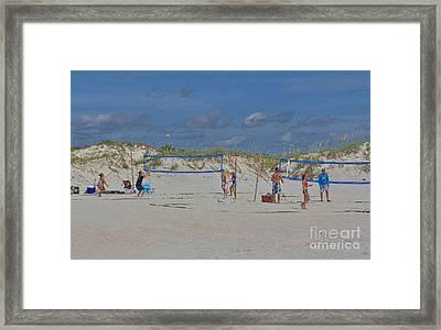 Summer Volley Ball Framed Print by Deborah Benoit