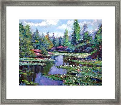 Summer Waterlilies Framed Print by David Lloyd Glover