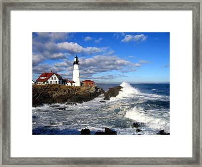 Summer Waves Framed Print