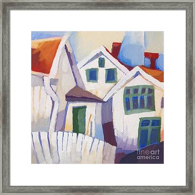 Summerhouses Framed Print by Lutz Baar
