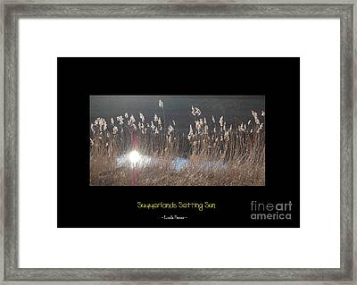 Framed Print featuring the photograph Summerlands Setting Sun by Linda Prewer