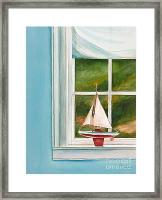 Summers At The Beach Framed Print by Michelle Wiarda