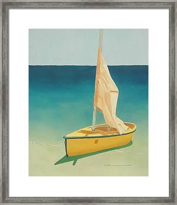 Summer's Boat Framed Print by Diane Cutter