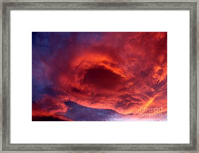Summer's Canvas In The Sky Framed Print