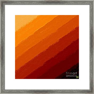 Framed Print featuring the digital art Summers End by Andy Heavens