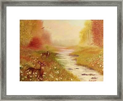 Summers End Framed Print by Beth Arroyo