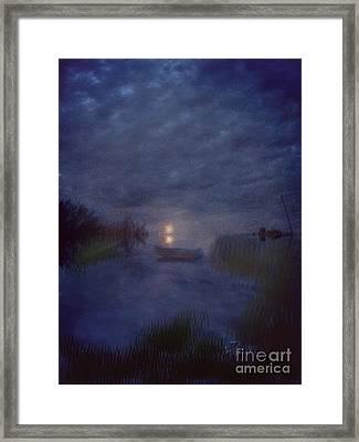 Summer's Moon Framed Print by Liz Campbell