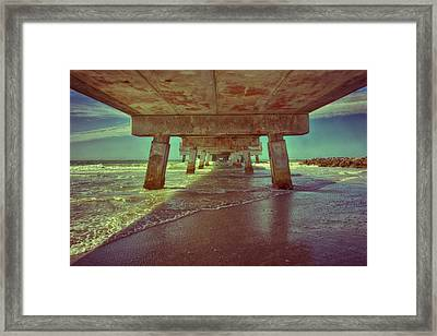 Summers Under The Pier Framed Print by Nicholas Evans