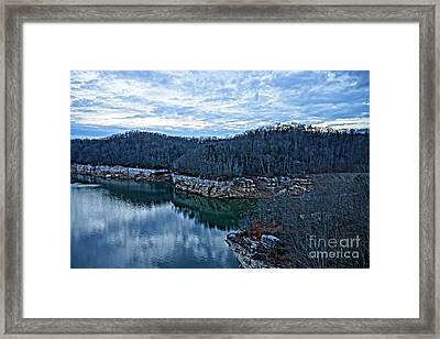 Summersville Lake Winter Pool Framed Print by Timothy Connard