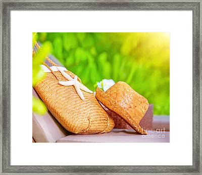 Summertime Accessories Framed Print by Anna Om