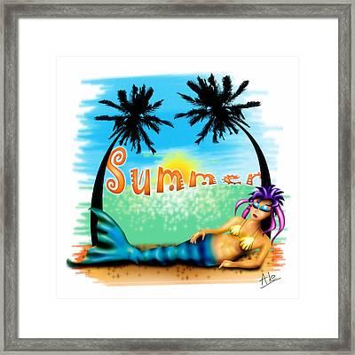 Summertime Framed Print by Alessandro Della Pietra