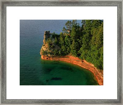 Summertime At Pictured Rocks National Lakeshore Framed Print