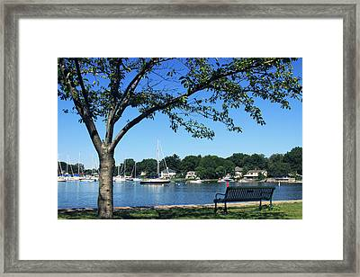 Framed Print featuring the photograph Summertime At The Marina by Aurelio Zucco