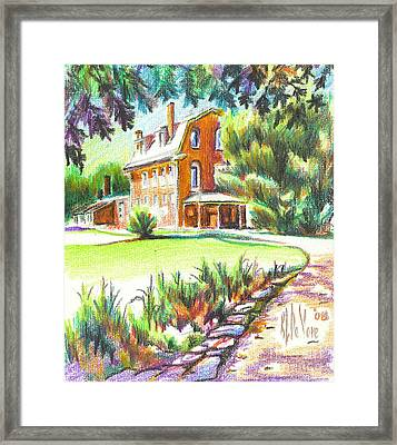 Summertime At Ursuline No C101 Framed Print by Kip DeVore