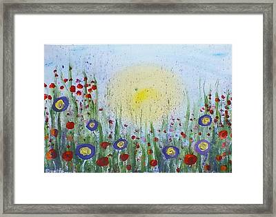 Framed Print featuring the painting Summertime by Carol Duarte