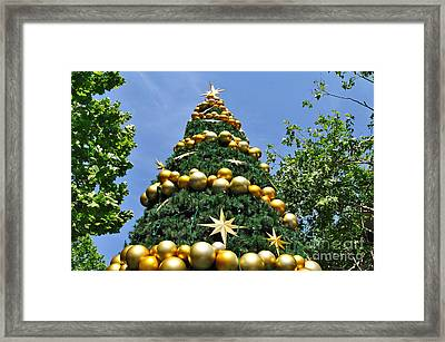 Summertime Christmas Framed Print by Kaye Menner