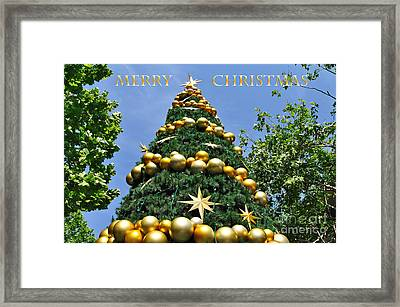 Summertime Christmas With Text Framed Print by Kaye Menner