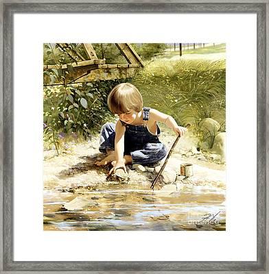 Summertime Friends Framed Print by Donald Zolan