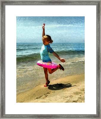Summertime Girl Framed Print by Michelle Calkins