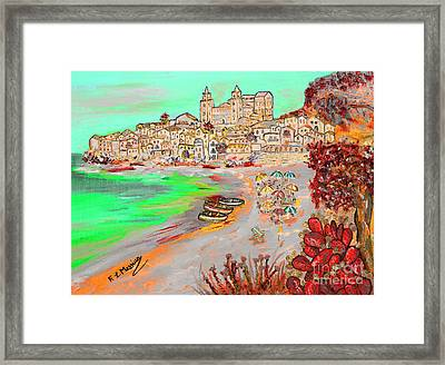 Summertime In Cefalu' Framed Print by Loredana Messina
