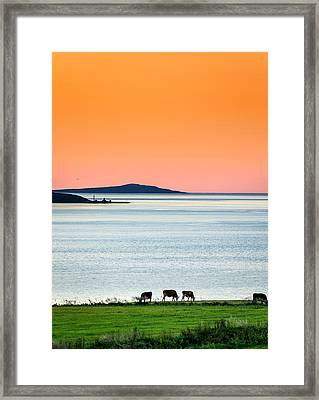 Summertime In Iceland With The Midnight Framed Print