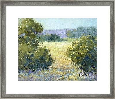 Summertime Landscape Framed Print by Joyce Hicks