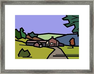 Summertime On Joe's Farm Framed Print by Kenneth North
