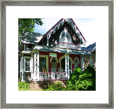 Summertime On The Vineyard Framed Print by Michelle Wiarda