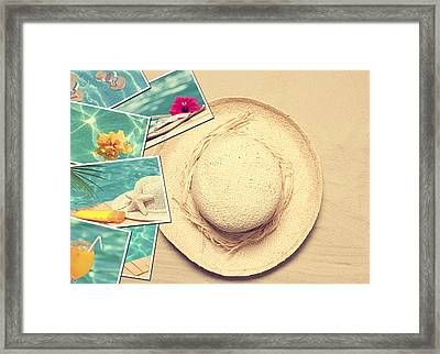 Summertime Postcards Framed Print by Amanda Elwell
