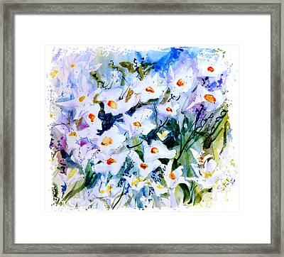 Framed Print featuring the painting Summertime by Steven Ponsford