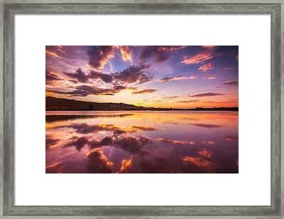 Summertime Sunset Framed Print by Darren  White