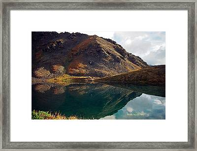 Summit Lake Reflection Framed Print