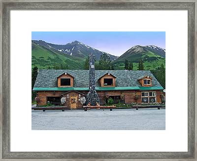 Summit Lake Lodge Alaska Framed Print by Aimee L Maher Photography and Art Visit ALMGallerydotcom