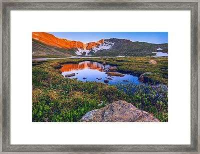 Summit Lake Sunrise Framed Print