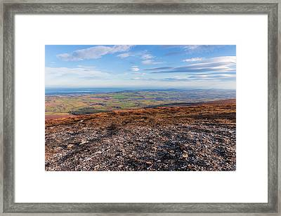 Summit Of Djouce Mountain In Wicklow Framed Print by Semmick Photo