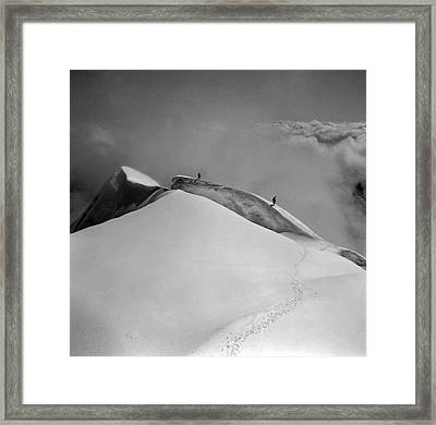 T-702412-bw-summit Of Mt. Robson Framed Print