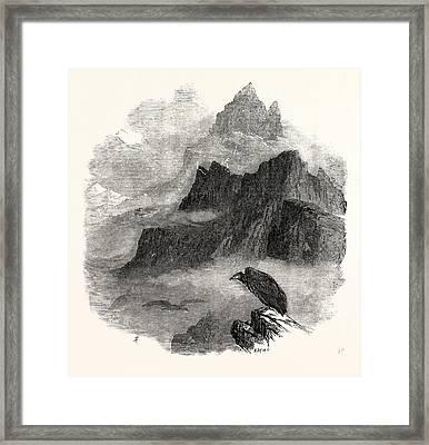 Summit Of The Pic Du Midi Dosseau Pyrenees 1854 Framed Print by English School