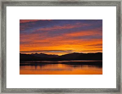 Summit Skies Framed Print