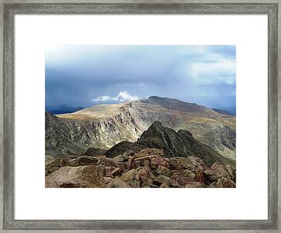 Summit Thunderstorm Framed Print