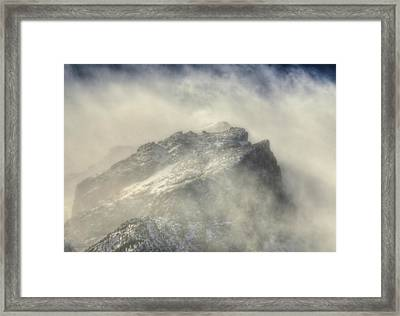 Summit Winds In Rocky Mountain National Park Framed Print