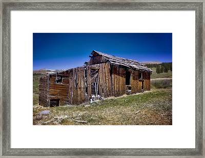 Summitville - Colorado Ghost Town Framed Print by Ellen Heaverlo